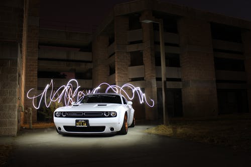 Free stock photo of car, longexposure, night