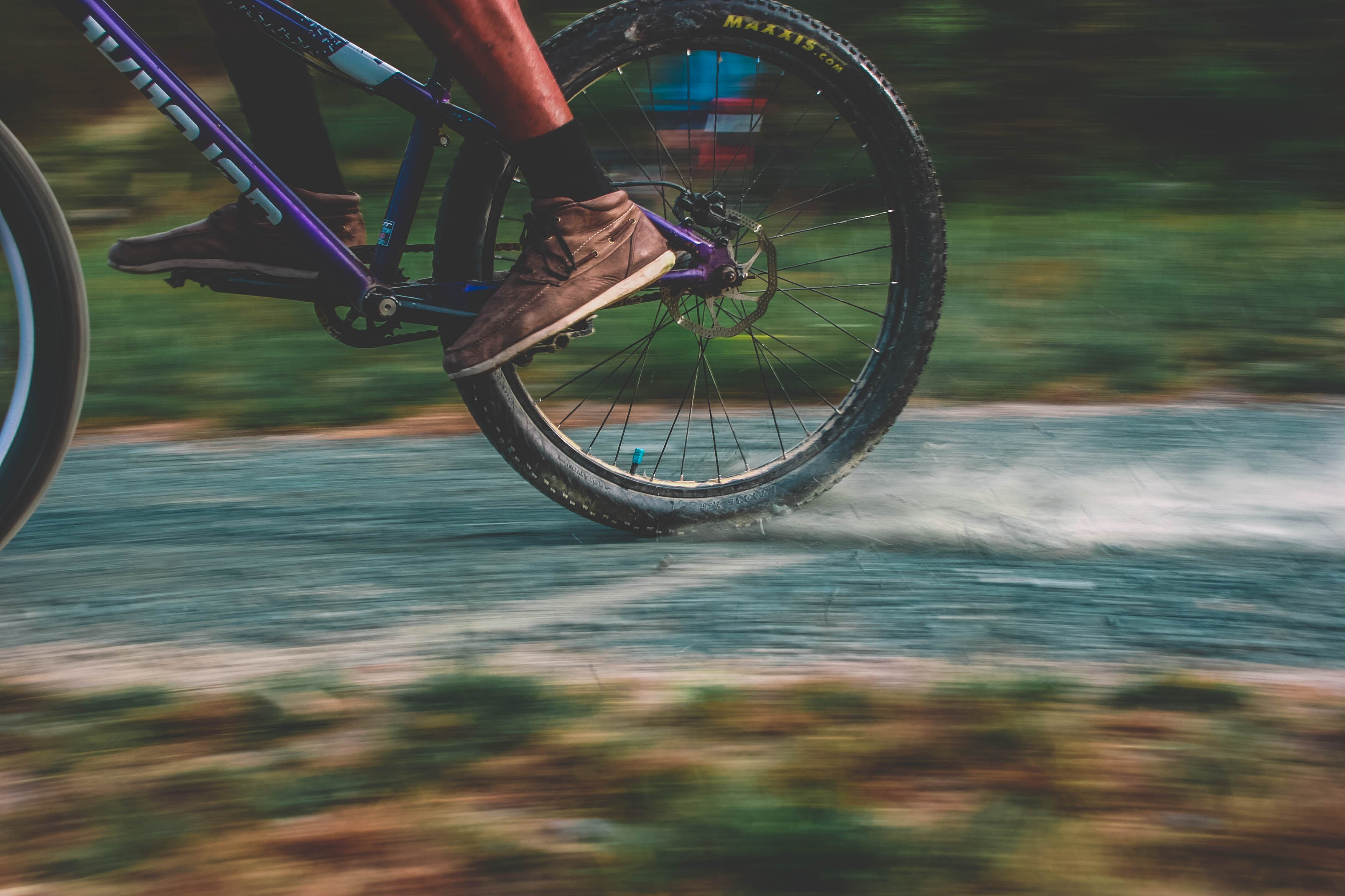 Photo of Purple Mountain Bike Drifting