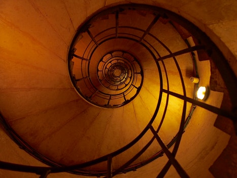 Photo of Black Metal Spiral Ladder