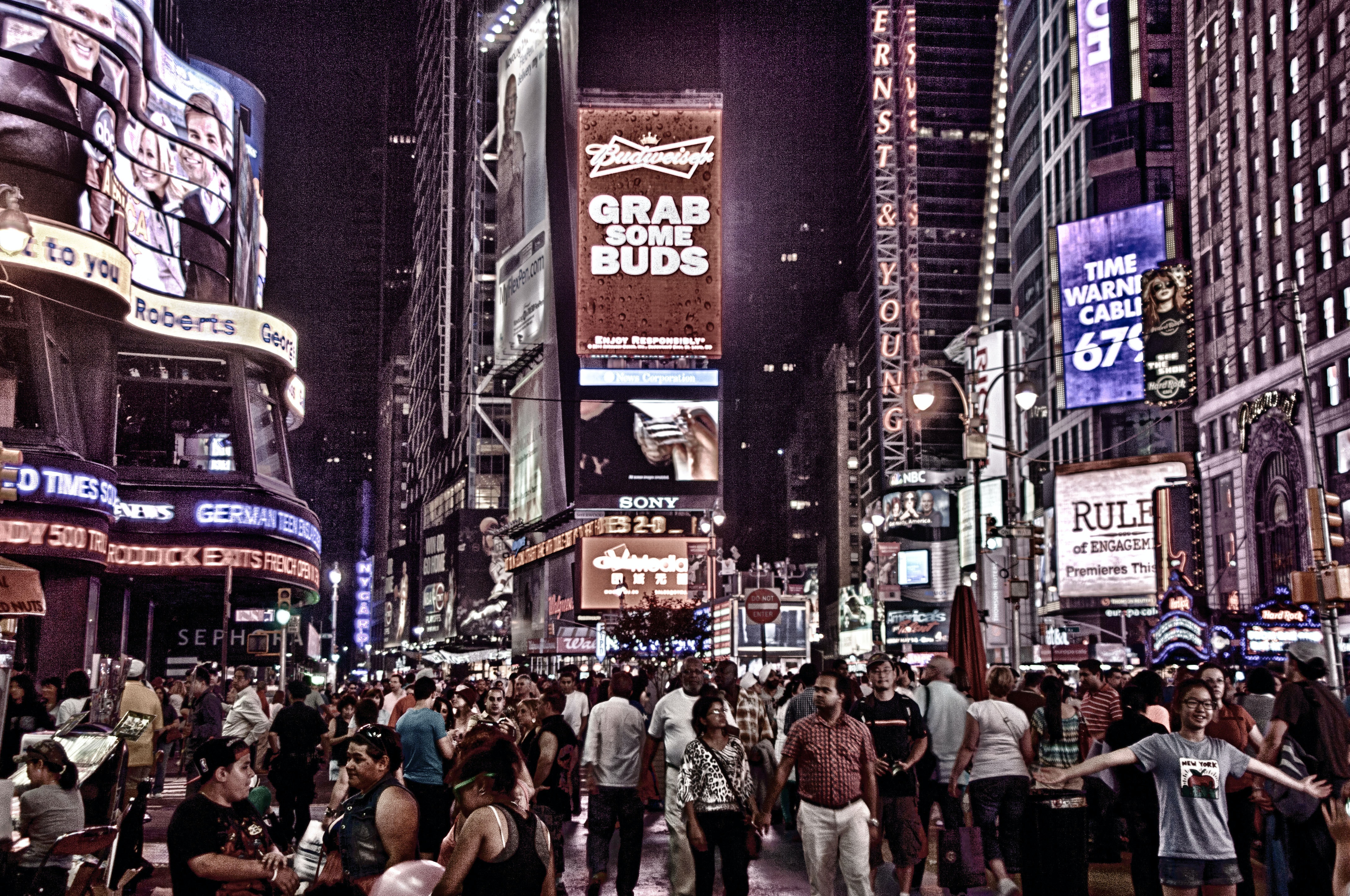 Photo Of People Walking In The Streets Of New York City Free Stock Photo