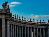 architecture, statues, columns