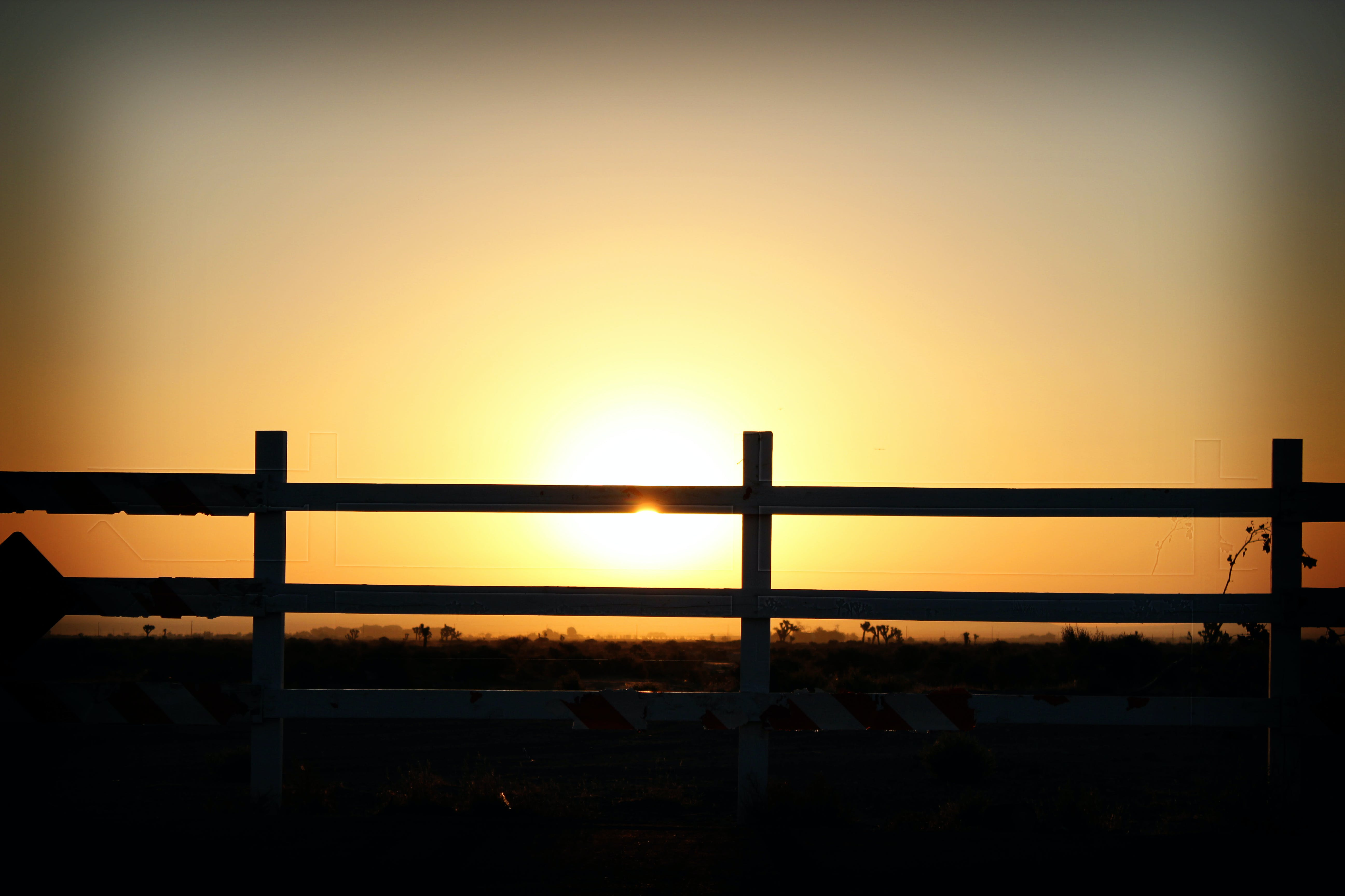Free stock photo of sunset, fence