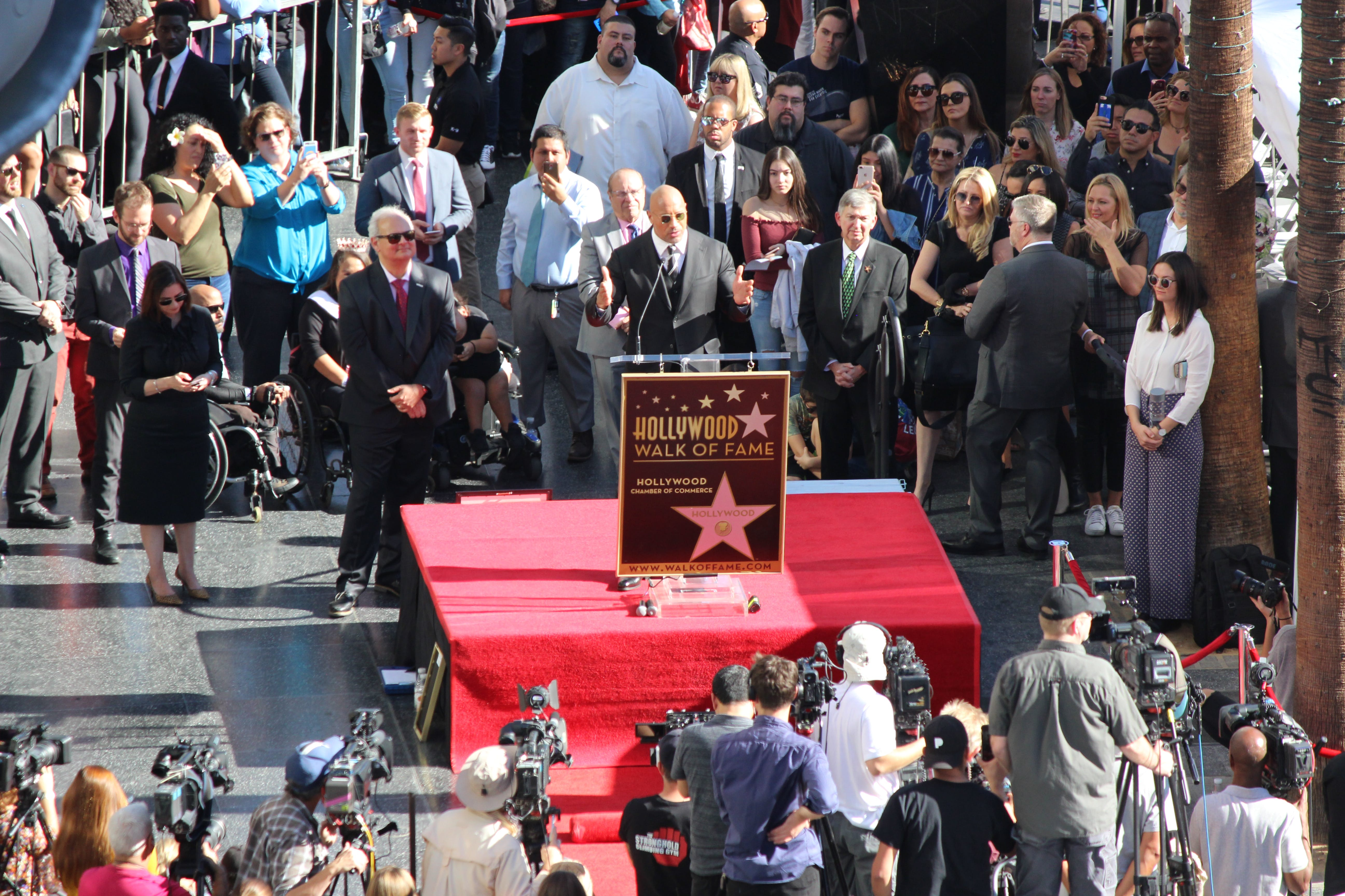 Free stock photo of Dwayne Johnson, hollywood, the rock, walk of fame