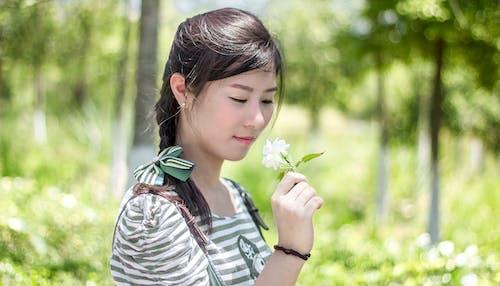Free stock photo of bow tie, braid, female