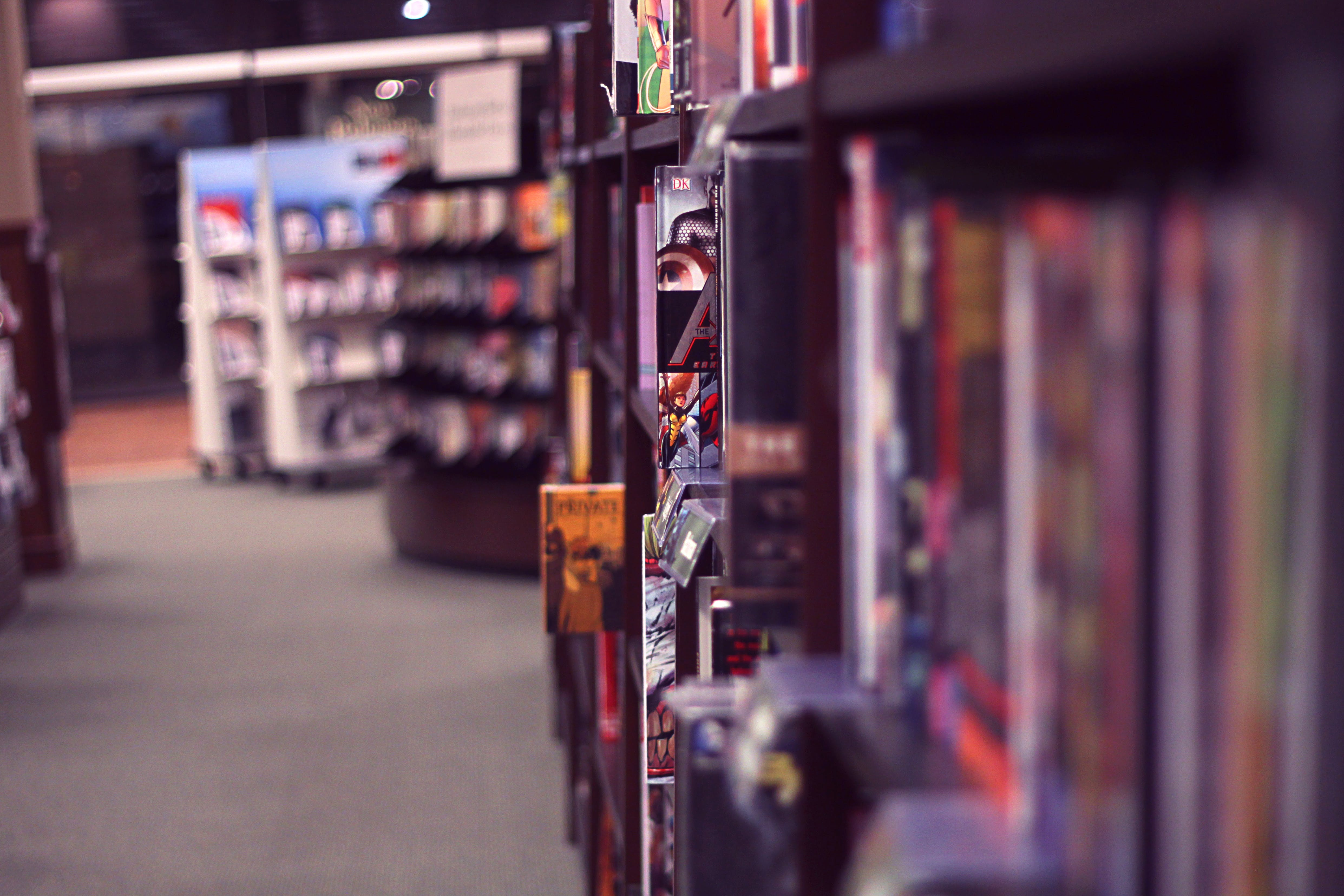 Free stock photo of books, industry, blur, shopping
