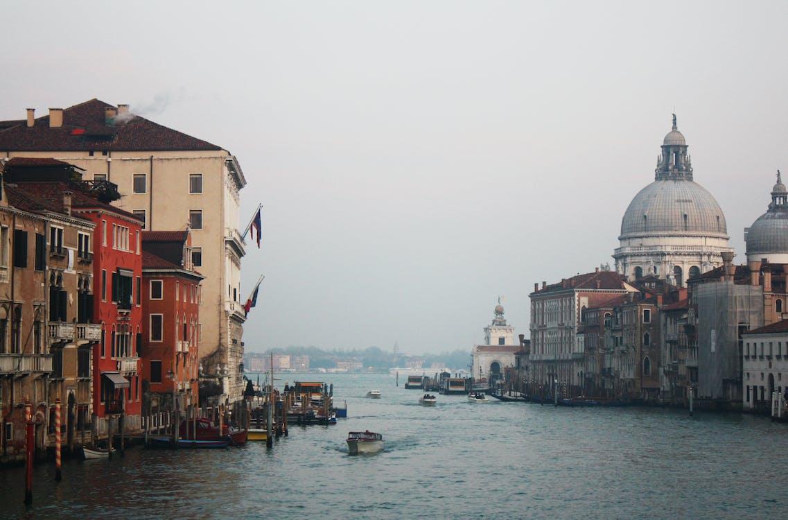 agua, arquitectura, banderas