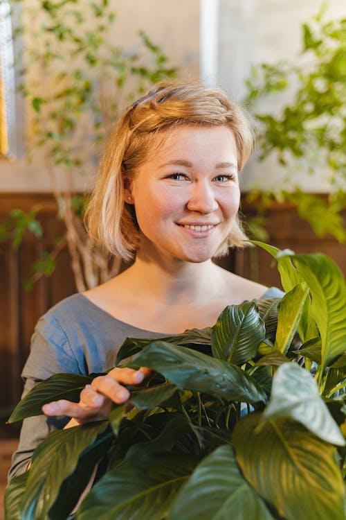 Fotos de stock gratuitas de de cerca, hojas verdes, mirando a la cámara