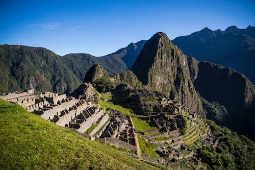 Mountain Machu Picchu under Blue Sky