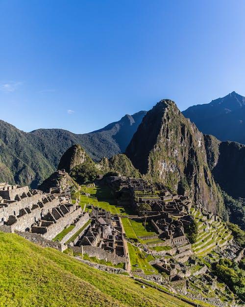 Machu Picchu under Blue Sky
