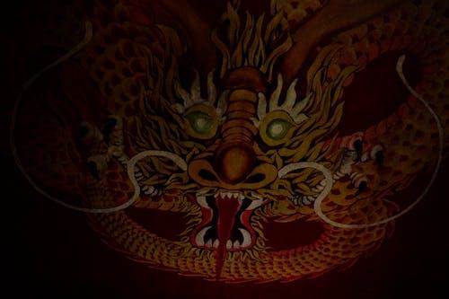 Fotos de stock gratuitas de Arte, chino, dragón, fondo