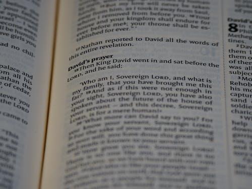Close Up Shot of a Bible Verse