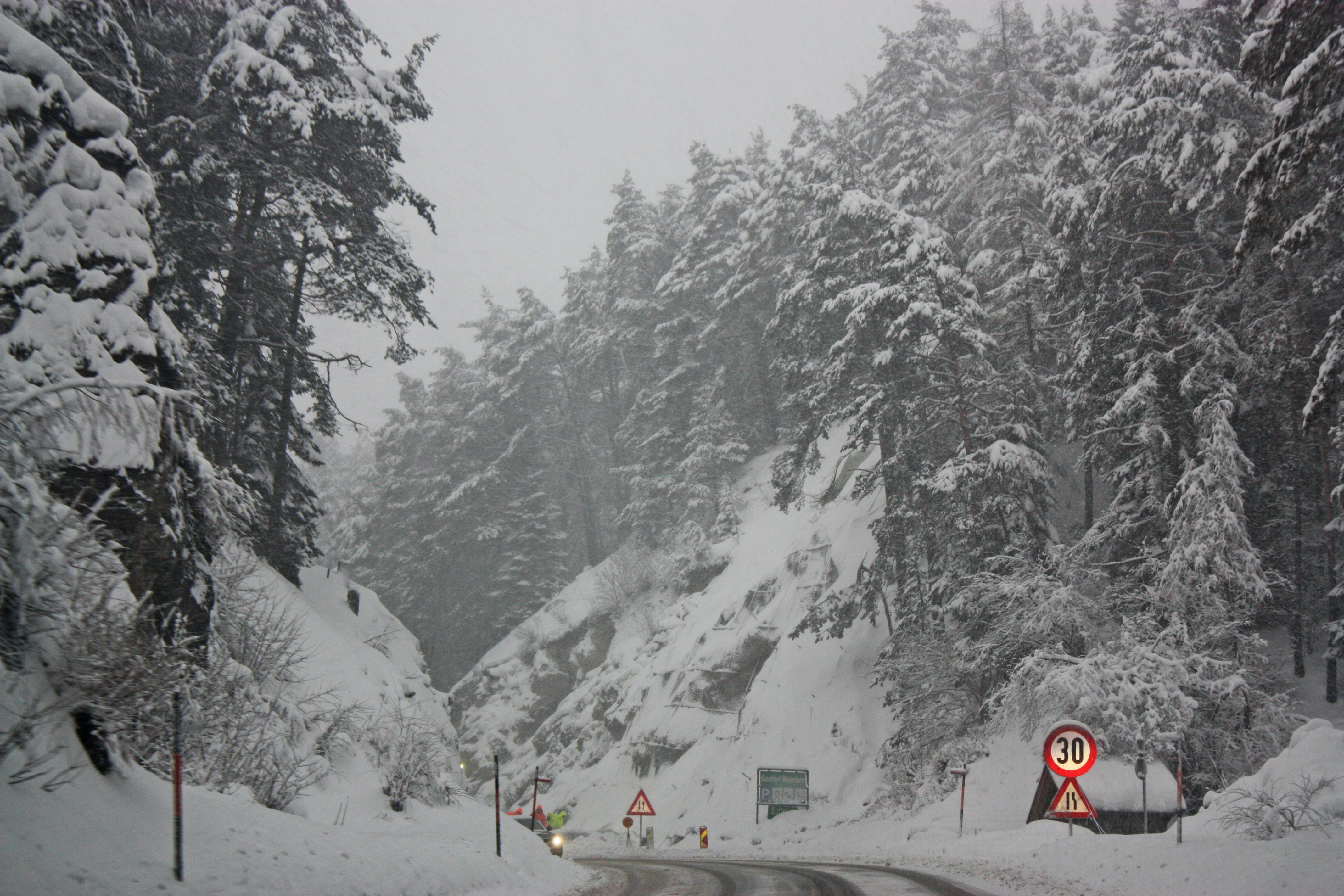 Free stock photo of cold, snow, cars, road