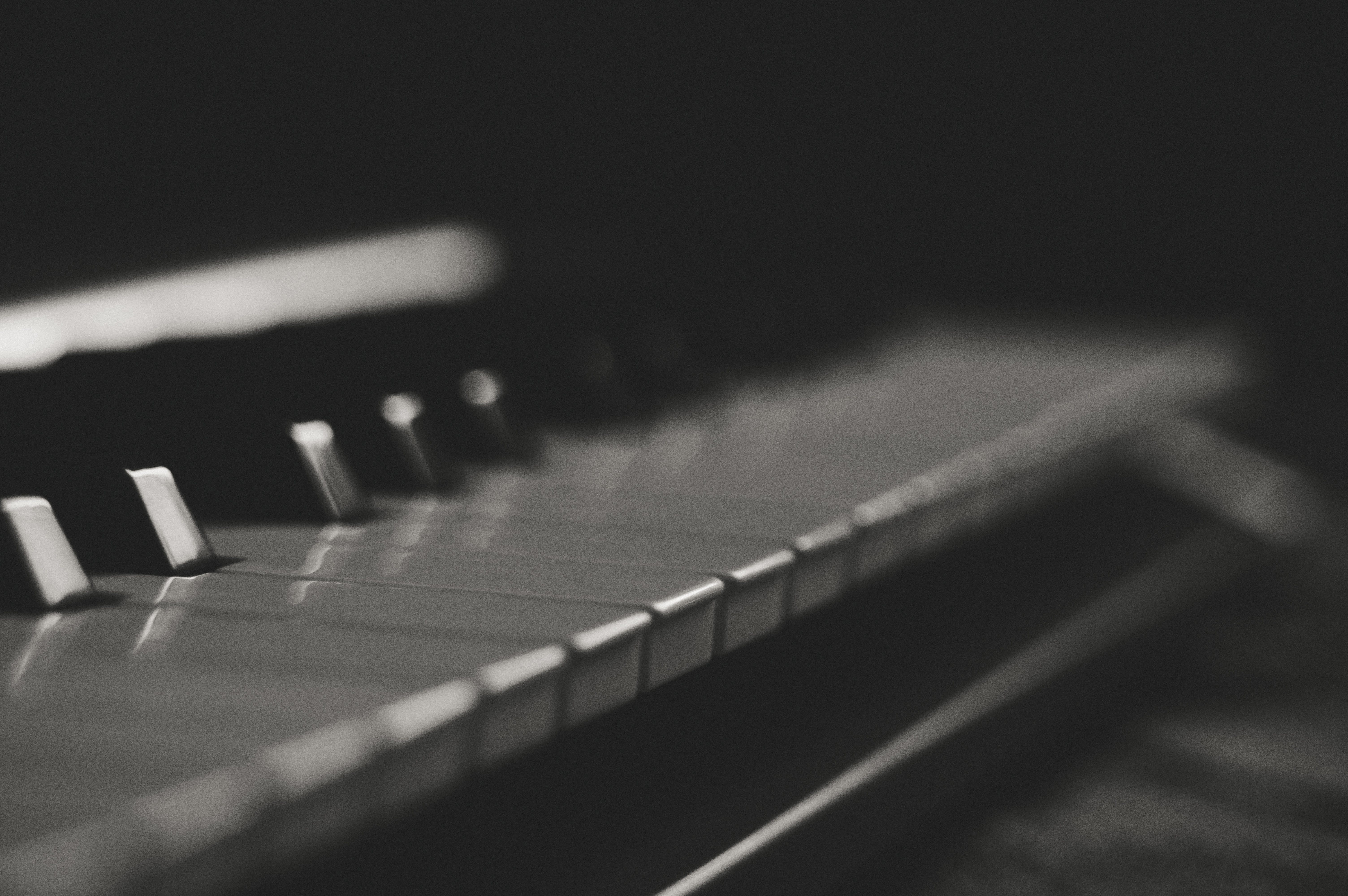 Gray and Black Piano Keys