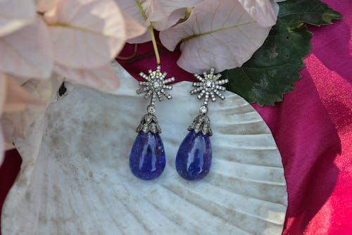 Silver and Purple Stone Pendant