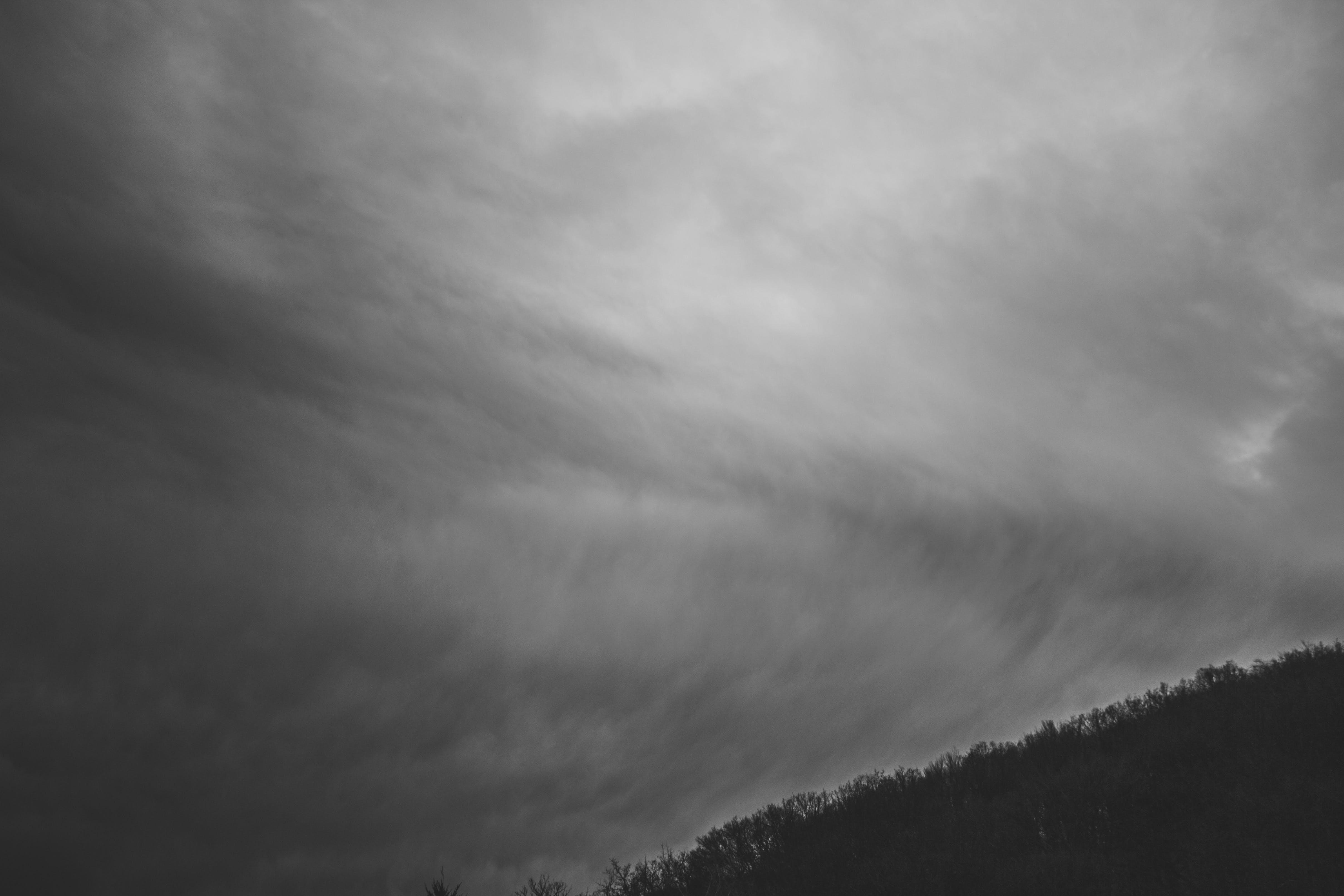 Grayscale Photo of a Sky