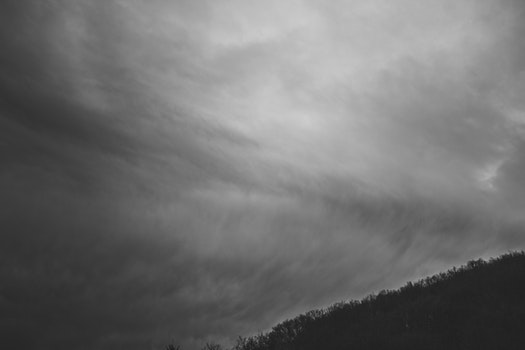 Grayscale Photo of a Sky
