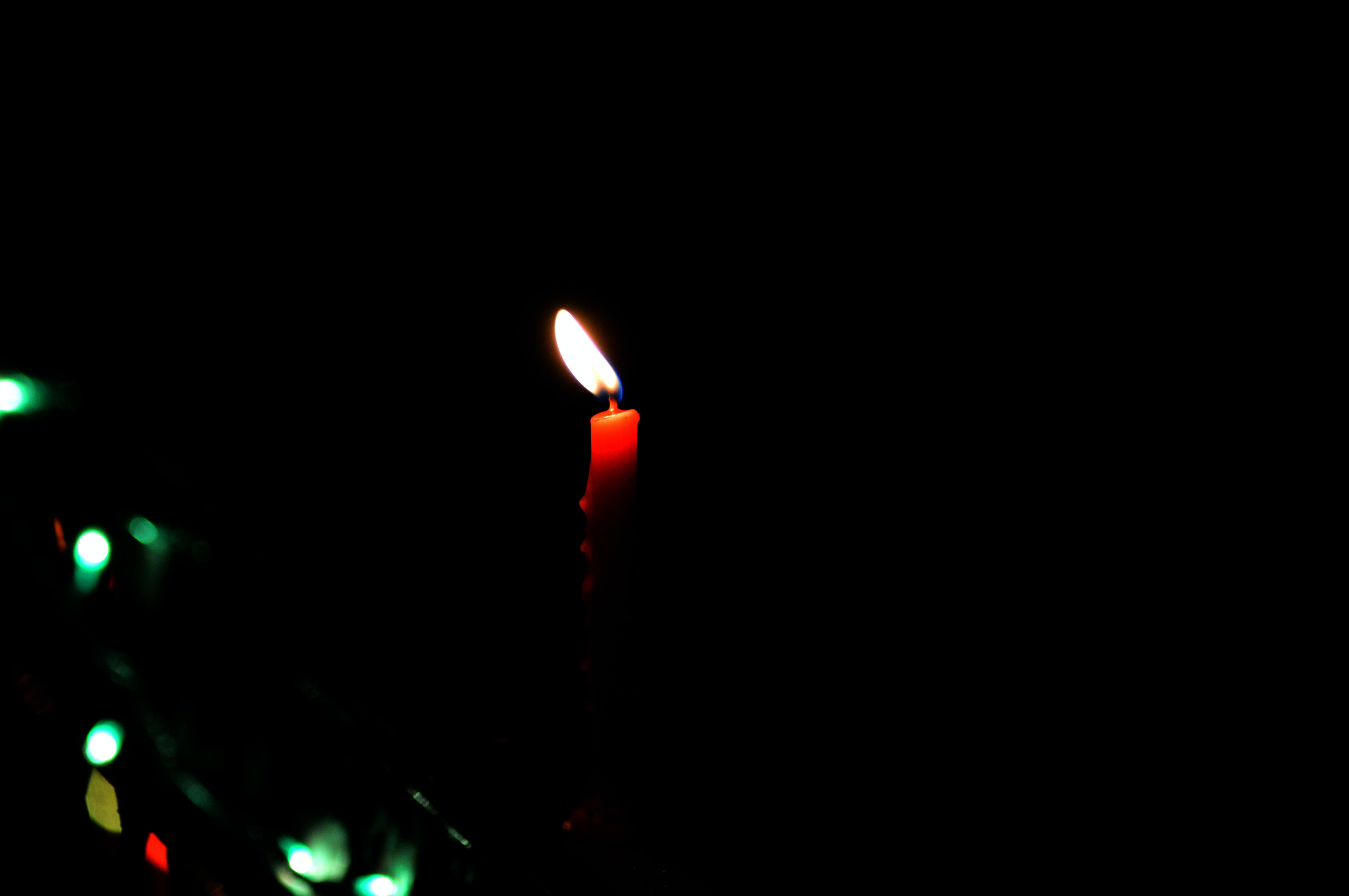 Close-Up Photography of Red Candle