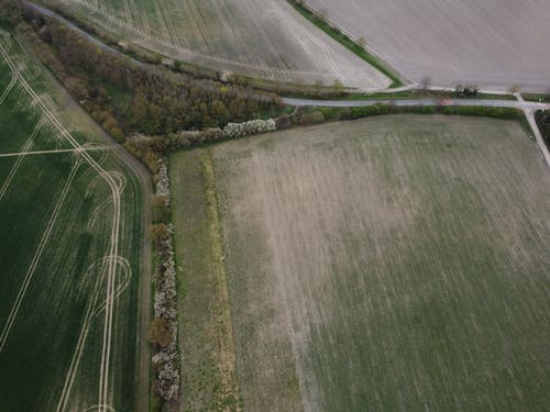 Aerial Footage of an Agricultural Land