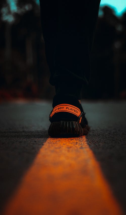 Free stock photo of black, kicks, leading lines