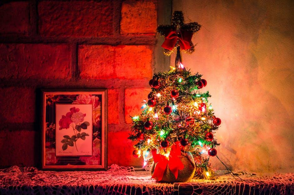 Photo of Lighted Christmas Tree