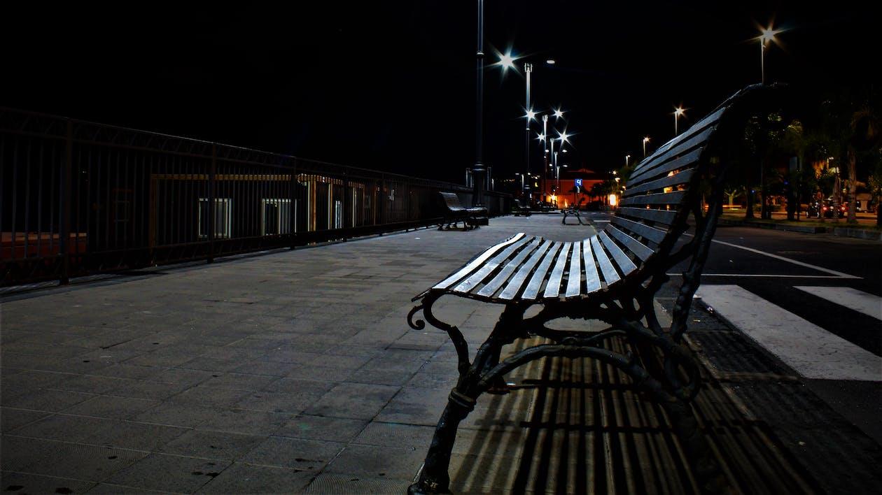 chaise, fotografia notturna, luci notturne