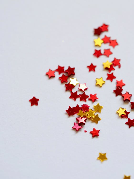 Selective Focus Photography of Assorted-color Stars