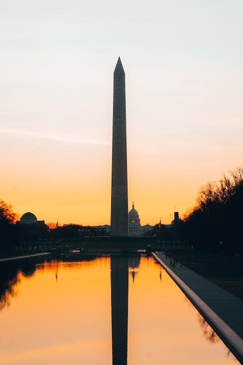 Washington Monument Washington Dc during Sunset