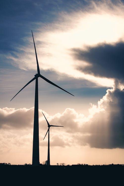 alternative, alternative energie, bewölkter himmel