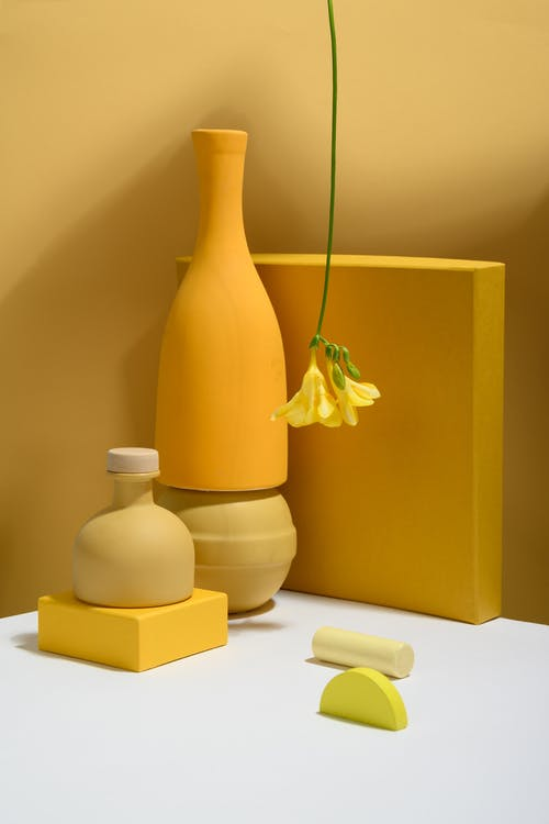 Photo of Bell Flower on Yellow Background