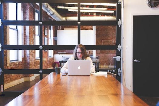 Free stock photo of person, woman, desk, laptop