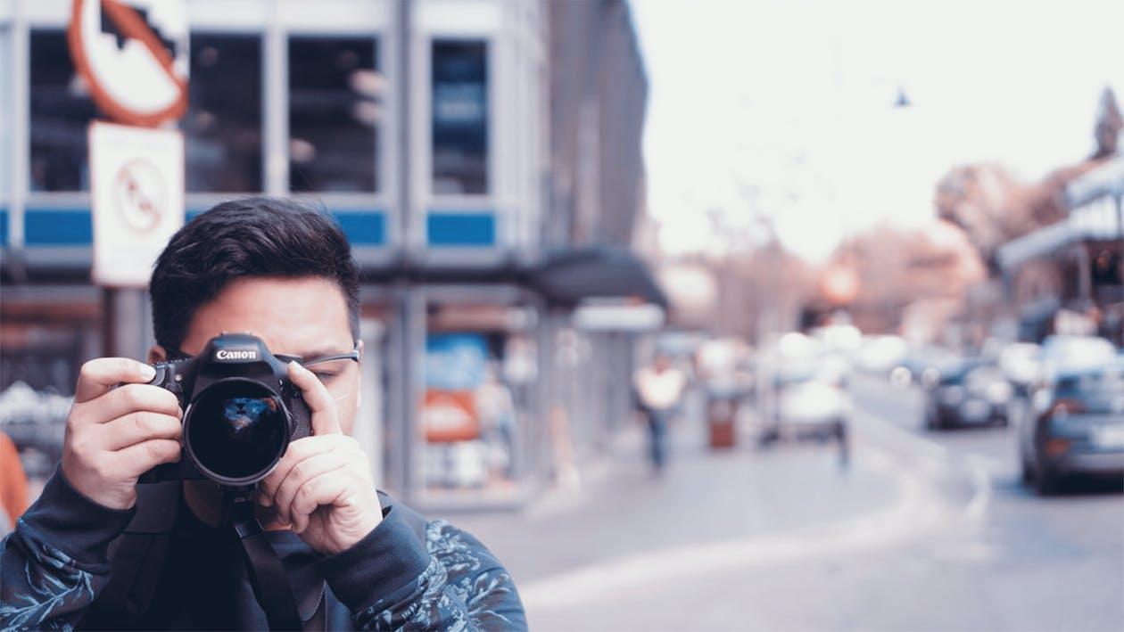 appareil photo, canon, homme