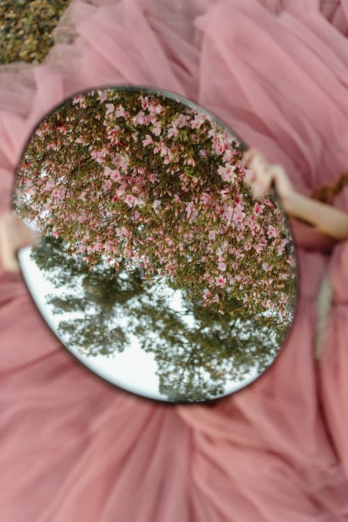 Green and Pink Floral Round Plate