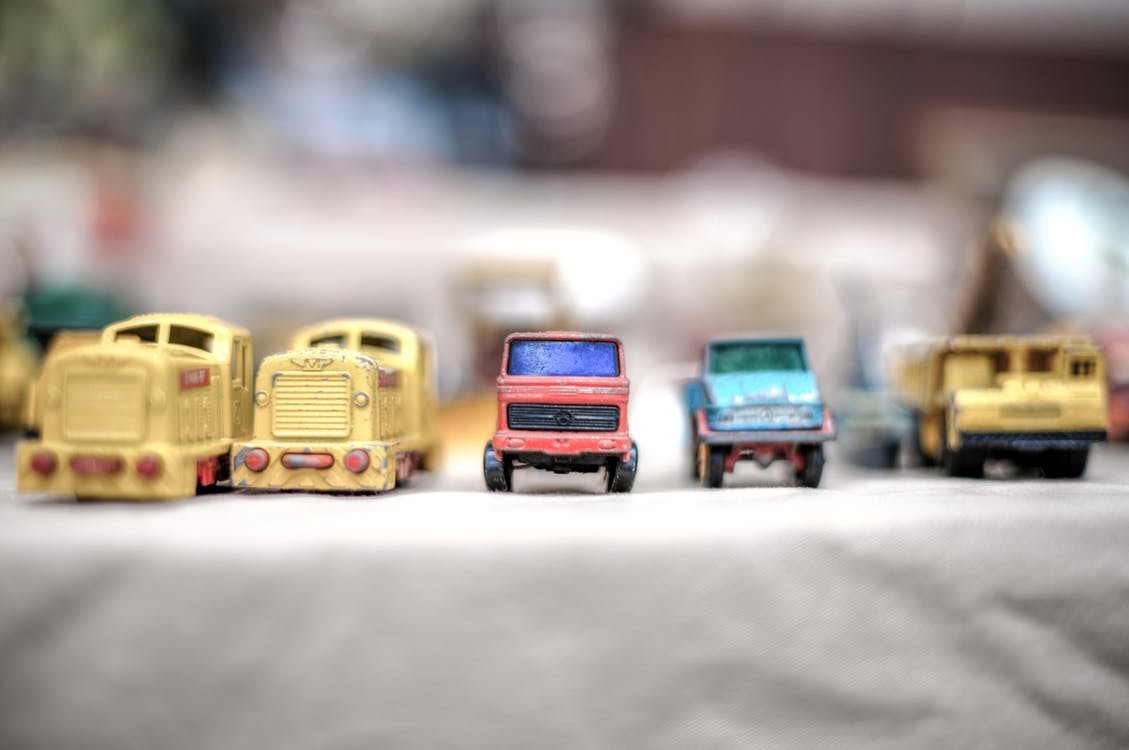 Close-up Photography of Toy Cars