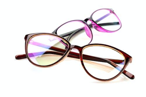 Purple and Brown Framed Eyeglasses