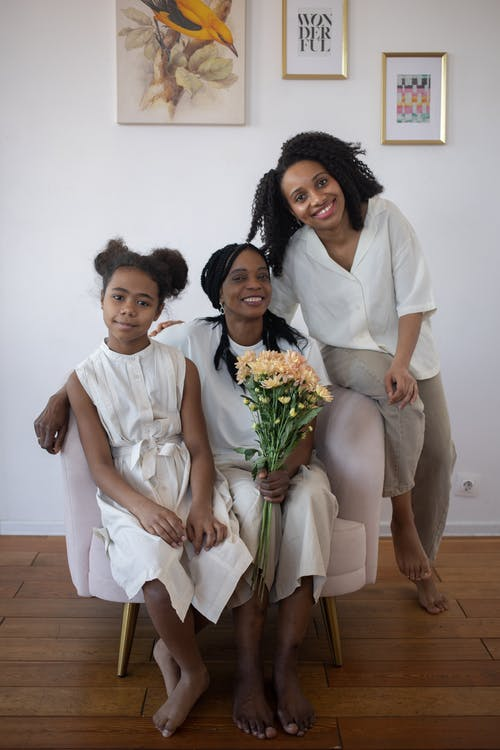 A Family Celebrating Mother's Day
