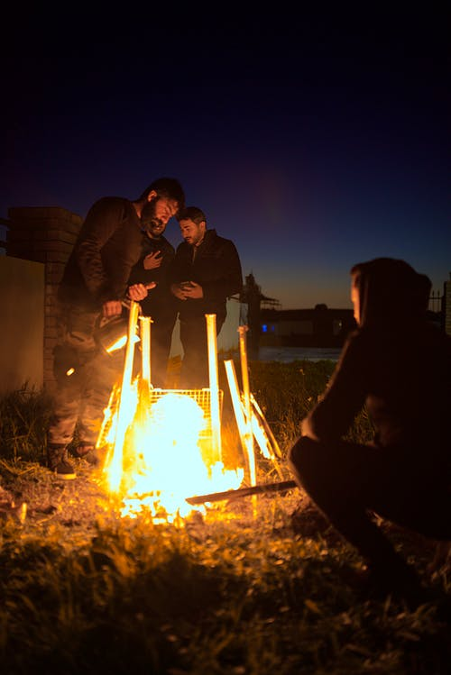 Free stock photo of fire, fish, peope