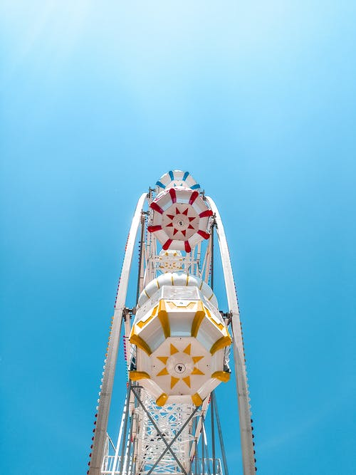 The Colorful Cabins of a Ferris Wheel