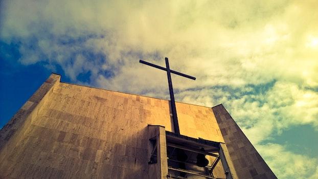 Free stock photo of sky, clouds, cross, hungary