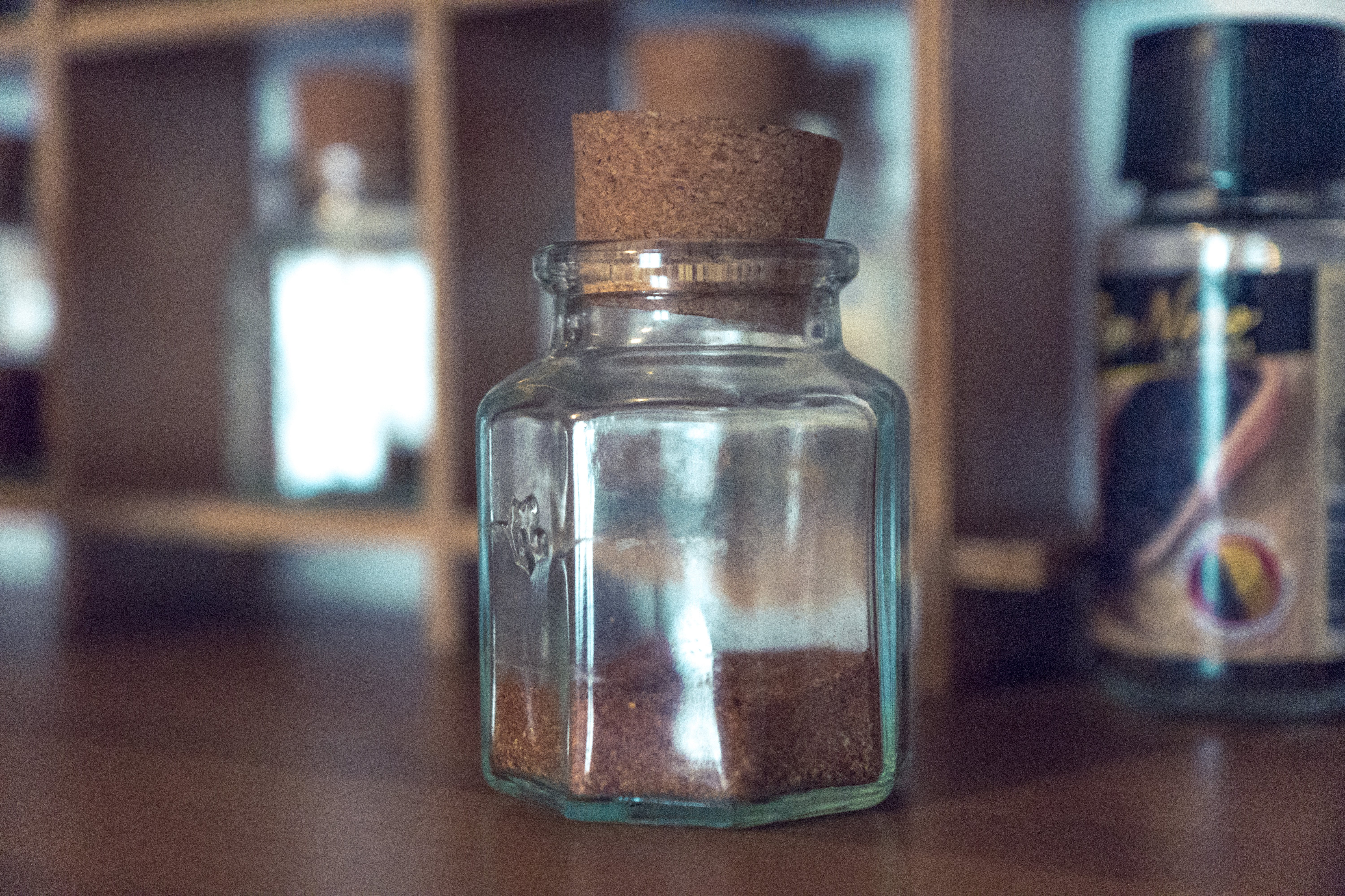 Close-up Photo of Glass Jar