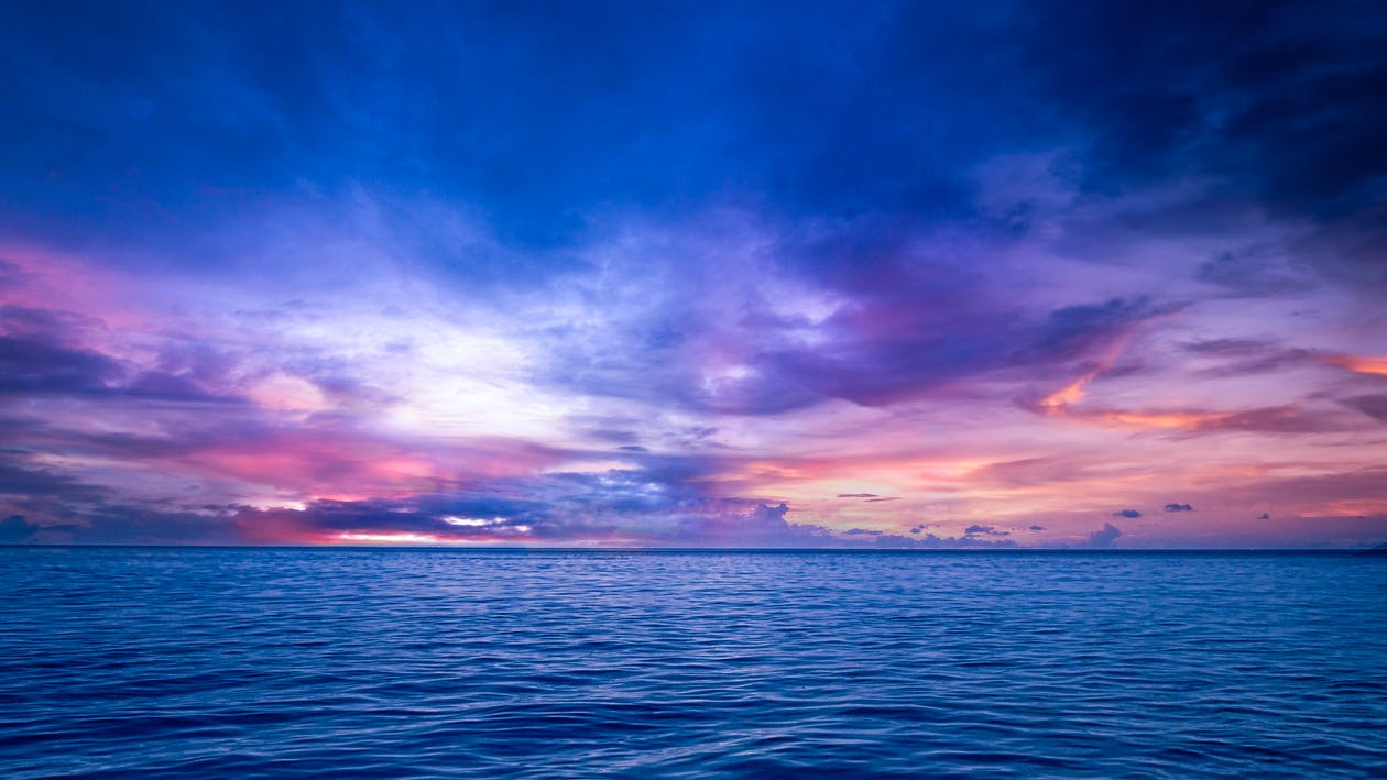 Scenic View of a Calm Sea during Sunset