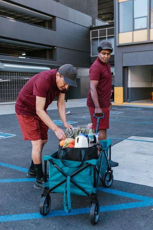 Men Delivering Groceries