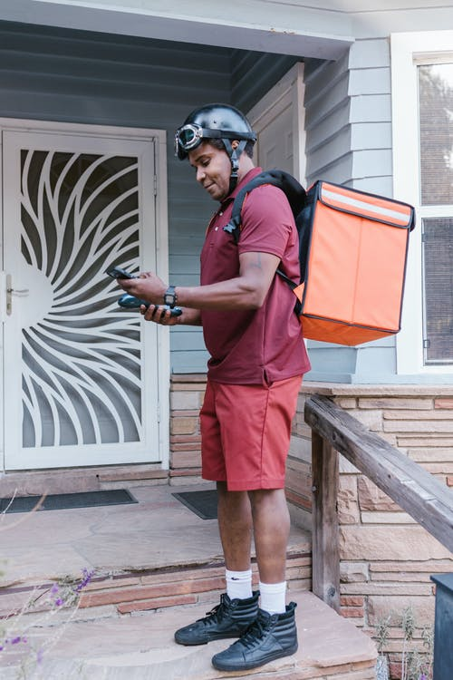 A Delivery Man on the Porch