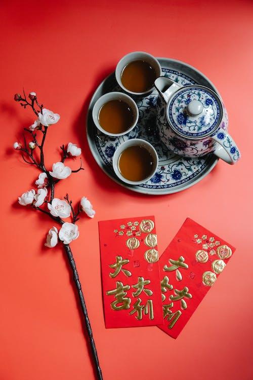 Tea Set and Red Envelopes