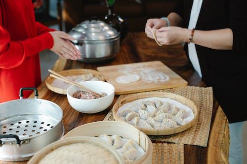 preparing momos for recipe