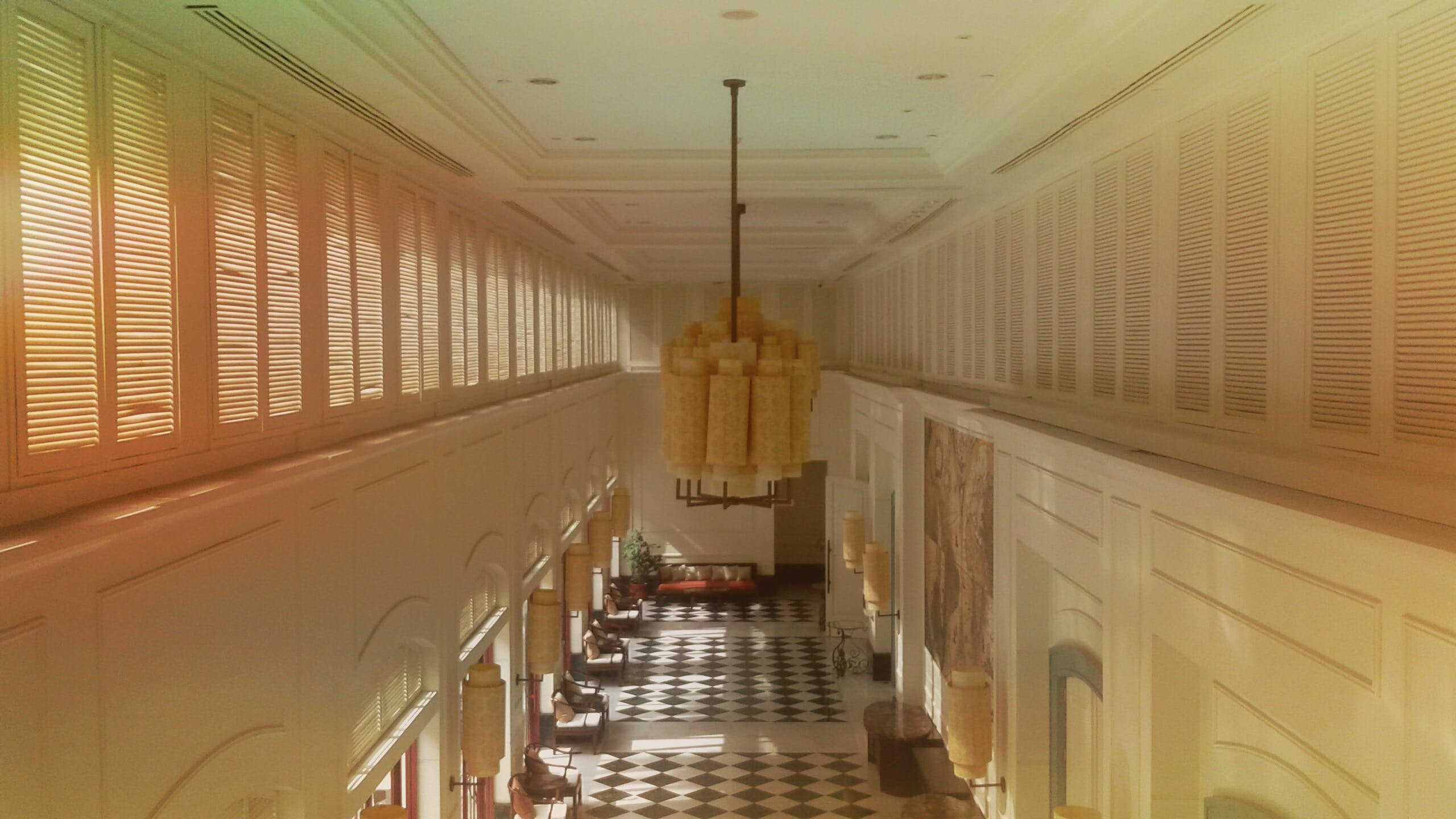 Free stock photo of Celinglight, hall, hallway, lamp