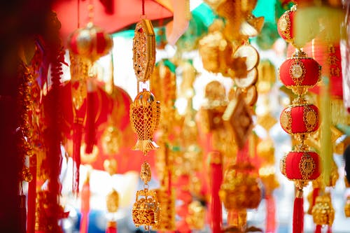 Chinese New Year Decorations on Display