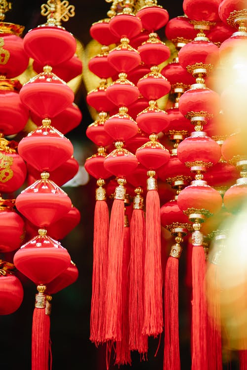 Colorful traditional Chinese New Year decorations
