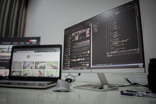 Free stock photo of black, coding, computer