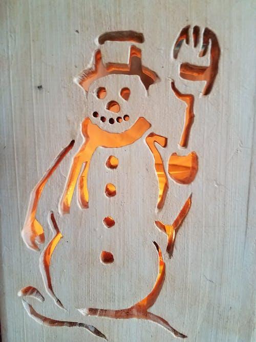 나무 조각, 눈사람, 래커의 무료 스톡 사진