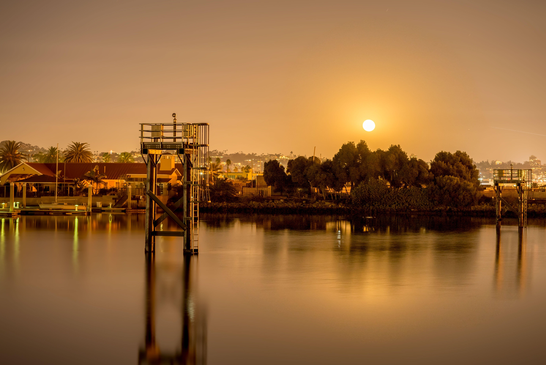 คลังภาพถ่ายฟรี ของ การสะท้อน, คลอง, ดวงอาทิตย์, ตอนเย็น